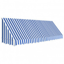 Toldo para bar 400x120cm azul y blanco Vida XL