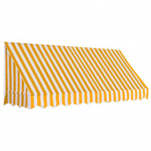 Toldo para bar 250x120cm naranja y blanco Vida XL