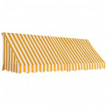 Toldo para bar 300x120cm naranja y blanco Vida XL