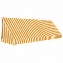 Toldo para bar 350x120cm naranja y blanco Vida XL