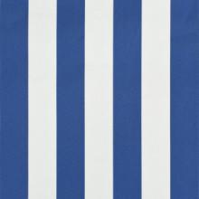 Toldo retráctil 350x150cm azul y blanco Vida XL