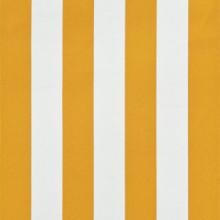 Toldo retráctil 350x150cm amarillo y blanco...