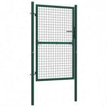 Puerta de valla de acero verde 100x150 cm Vida XL
