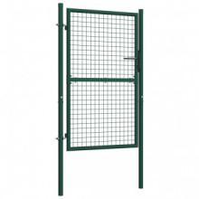 Puerta de valla de acero verde 100x175 cm Vida XL