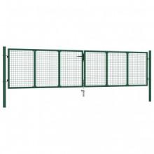 Puerta de malla de jardín acero verde 400x75 cm...