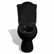 Inodoro WC con cisterna negro Vida XL