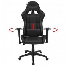 Silla de escritorio reclinable Racing de cuero...