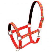 Cabezadas de caballo nylon tamaño grande rojo 2...