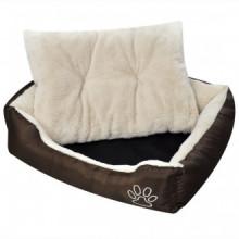 Cama blanda para perros con un cojín blanco acolchado, tamaño XL Vida XL