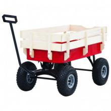 Carrito de mano de jardín rojo 150 kg Vida XL