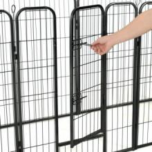 Corral para perros 8 paneles de acero 80x100 cm...