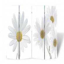 Biombo divisor plegable 160x170 cm flores Vida XL