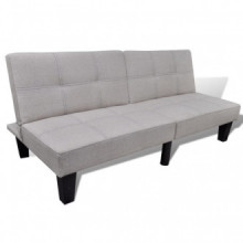 Sofá cama ajustable beige Vida XL