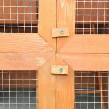 Gallinero de madera 295x163x170 cm Vida XL