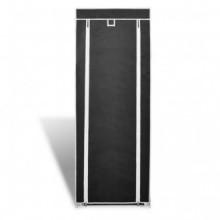 Zapatero de tela con cubierta negro 57x29x162...