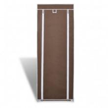 Zapatero de tela con cubierta marrón 57x29x162...