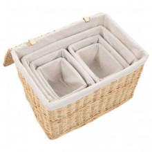 Conjunto de cestas apilables 6 unidades de...