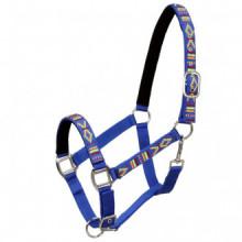 Cabezadas de caballo nylon tamaño pony azul 2...