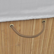 Cesto de la ropa sucia de bambú rectangular...