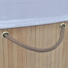 Cesto de la ropa sucia de bambú ovalado color...