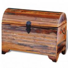 Baúl de almacenamiento de madera reciclada...
