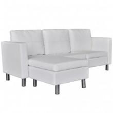 Sofá modular de 3 plazas de cuero artificial...