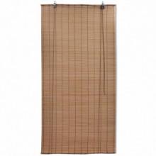 Persianas enrollables de bambúmarrón 80x160cm...