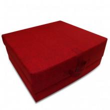 Colchón de espuma plegable en tres partes rojo...