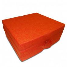 Colchón de espuma plegable 190x70x9cm naranja...