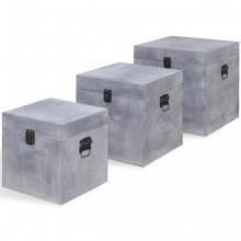 Cajas de almacenaje apariencia hormigón 3...
