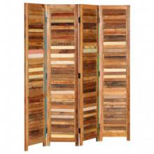 Biombo de madera maciza reciclada 170cm Vida XL