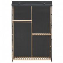 Armario de tela de 3 niveles gris 110x40x170cm...