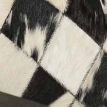 Sillón de cuero auténtico blanco y negro Vida XL