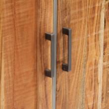 Aparador de madera maciza de acacia 65x30x75cm...