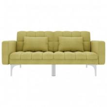 Sofá cama de tela verde Vida XL