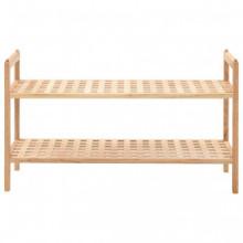 Zapatero de madera maciza de nogal 69x26x40cm...