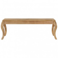 Mesa de centro de madera de mango maciza...