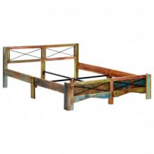 Estructura de cama de madera maciza reciclada...