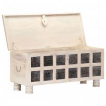 Caja de almacenajemaderamaciza de acacia...