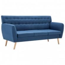 Sofá de 3 plazas tapizado de tela 172x70x82cm...