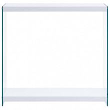 Mesa consola demDF blanca 80x29x75,5cm Vida XL