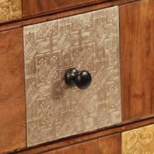 Mueble con cajones de madera maciza de acacia...