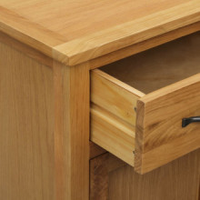 Mueble zapatero de madera maciza de roble...