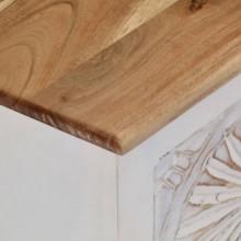 Caja de almacenaje de madera maciza de acacia...