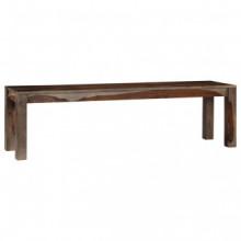 Banco de madera maciza de sheesham gris 160cm...