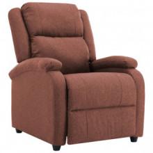 Sillón reclinable para TV de telamarrón Vida XL