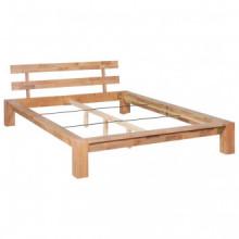 Estructura de cama de madera maciza de roble...