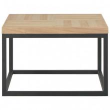 Mesa de centro de madera maciza 50x50x33,5cm...