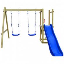 Parque infantil con tobogán, escalera y...