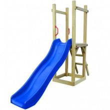 Parque infantil de jardin con tobogán y...